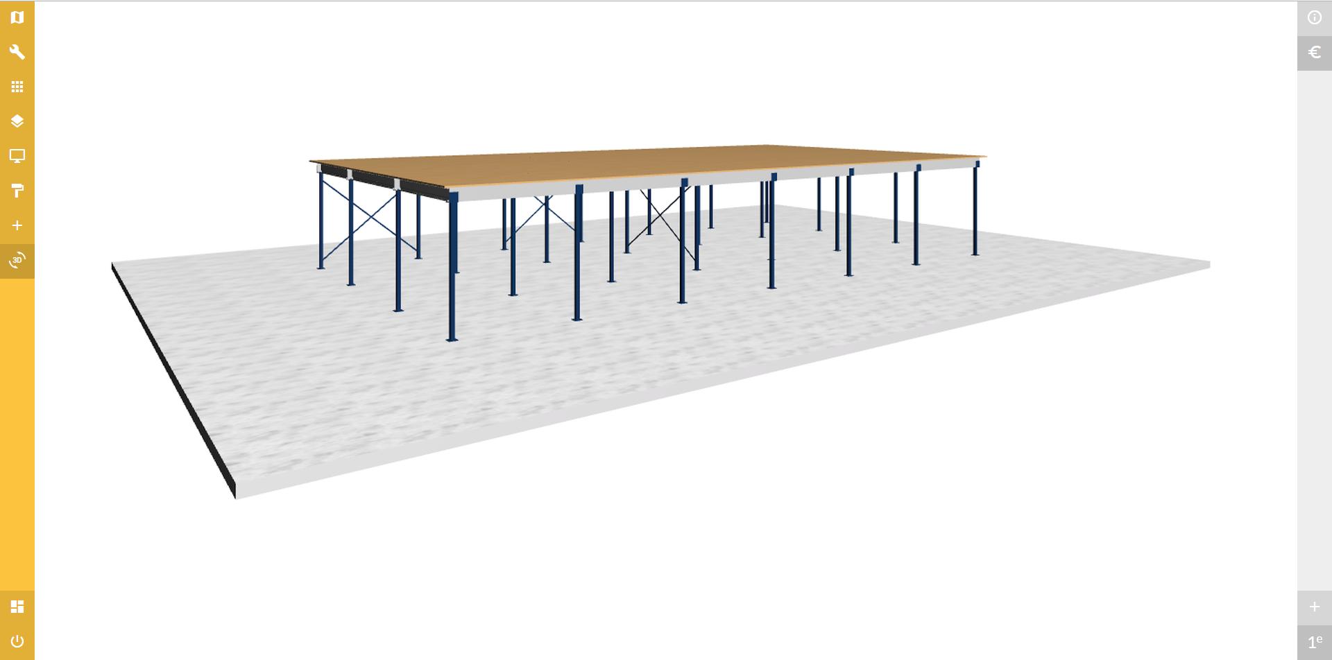 Voorbeeld configuratie van een vloer